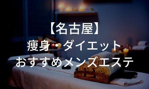 【専門家監修】ダイエット・痩身コースがある名古屋のメンズエステ!
