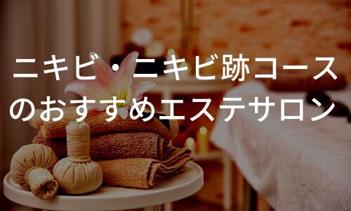 ニキビ・ニキビ跡改善におすすめの人気エステ5選!効果や料金まとめ!